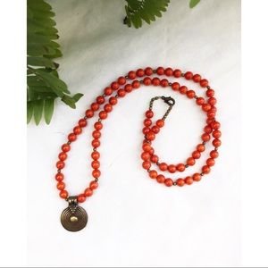 Orange Boho Hippychick Necklace